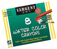 Sargent art watercolor crayons 8cnt