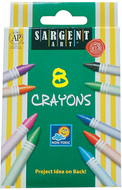 Sargent art crayons 8 count tuck bx