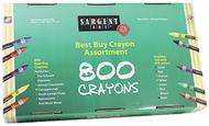 Sargent art best buy crayon 800  assortment std crayons 100ea color