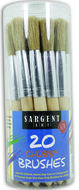 20ct jumbo brushes wooden handles  in canister