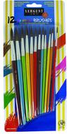 12ct natural hair rainbow brush  assortment