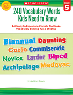 240 vocabulary words kids need to  know gr 5
