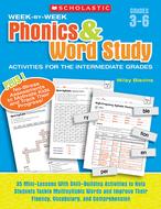Week by week phonics & word study  activities for the intermediate gr