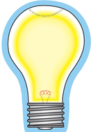 Light bulb mini notepad
