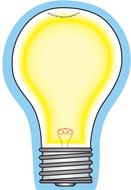 Light bulb large notepad