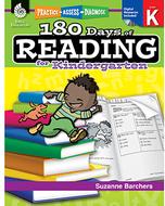 180 days of reading book for  kindergarten