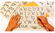 Template mauscript uppercase  letters