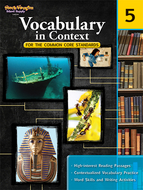 Gr 5 vocabulary in context for the  common core standards