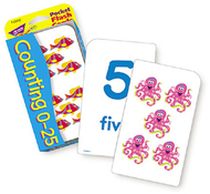 Pocket flash cards 56-pk 3 x 5  counting 0-25 two-sided cards
