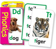 Pocket flash cards phonics 56-pk  3 x 5 two-sided cards