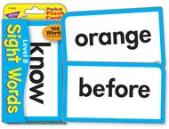 Pocket flash cards sight words b