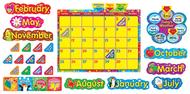 Wipe off stars n swirls calendar  cling spanish  bb set
