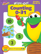 Counting 0-31 28pg wipe-off books