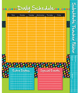 Substitute teacher folder stylin  strips