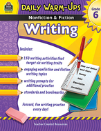 Daily warm ups gr 6 nonfiction &  fiction writing book
