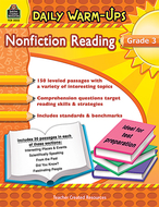 Daily warm ups gr 3 nonfiction  reading