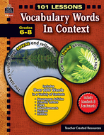 101 lessons vocabulary words in  context gr 6-8