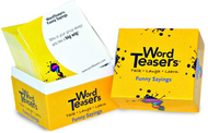 Wordteasers flash cards funny  sayings