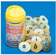 Lowercase alphabet pebbles