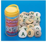 Uppercase alphabet pebbles