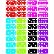 Math die cut magnets dominoes