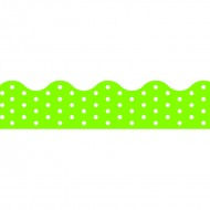 Polka dots lime terrific trimmers