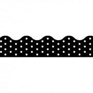 Polka dots black terrific trimmers
