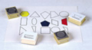 Stamp set plane geometry 15/pk wood