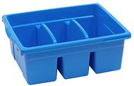 Leveled reading blue large divided  book tub