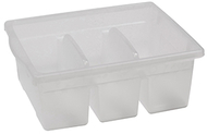 Leveled reading clear large divided  book tub