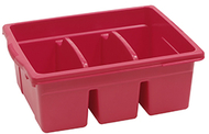 Leveled reading red large divided  book tub