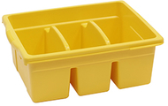 Leveled reading yellow large  divided book tub