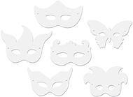 Die cut mardi gras masks 24pk
