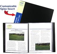 C line bound 24 pocket sheet  protector presentation book