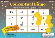 Conceptual bingo rational numbers  algebra focus