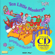 Ten little monkeys 8x8 book with cd